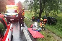 Nehody v Karlovarském kraji, při kterých se zranilo osm osob a zasahovalo u nich dohromady dvanáct jednotek hasičů.
