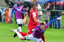 Západočeské derby přetavila v tříbodový zisk karlovarská Slavia, která porazila rezervu Viktorie Plzeň posilněnou o několik hráčů ligového A-týmu 1:0.