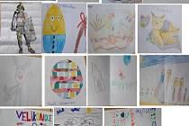 Děti kreslily obrázky.