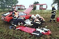 Místo nehody poblíž Boru.