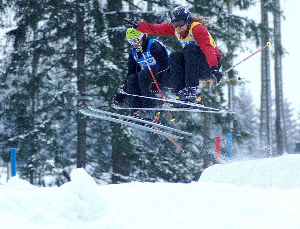 Skicross v Potůčkách, první závod Českého poháru 2011