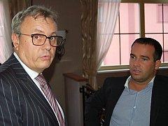 Prezident Hospodářské komory ČR Vladimír Dlouhý navštívil Karlovarský kraj.