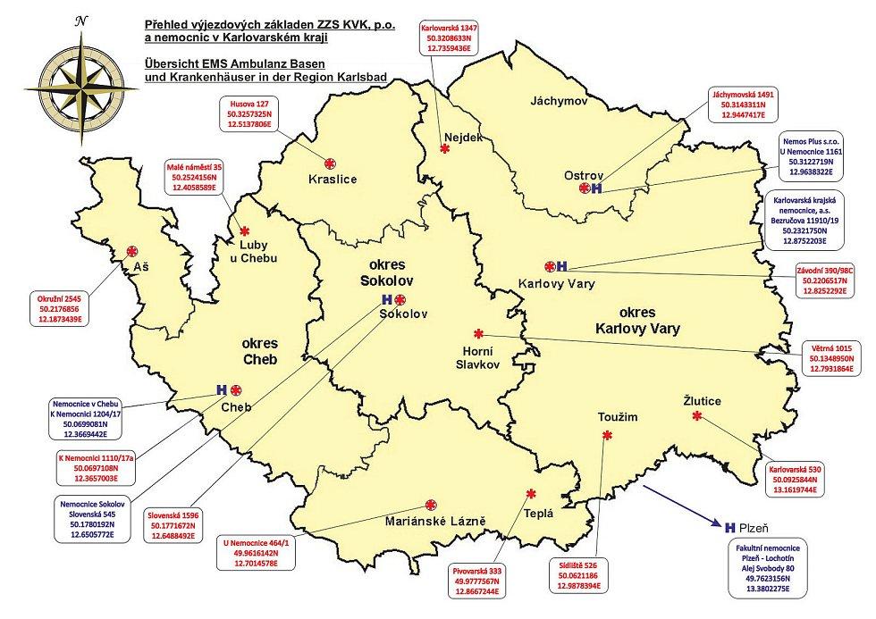 Výjezdové základny jsou v každém okrese.