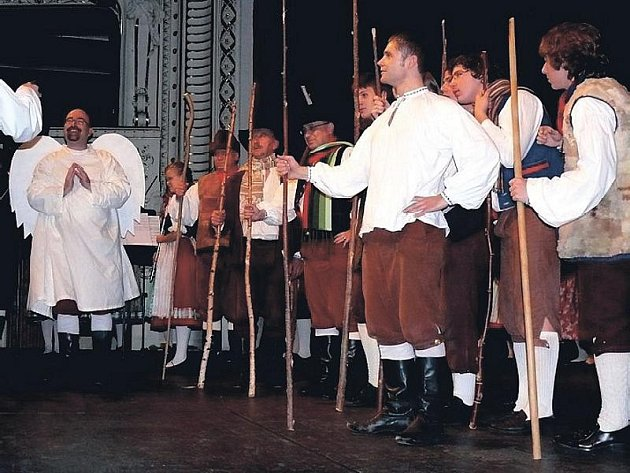 Zvánočního koncertu souboru Dyleň.