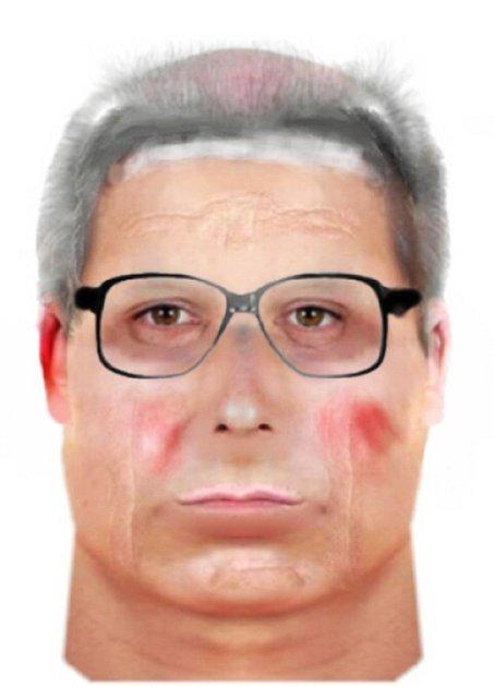 Policejní identikit hledaného podvodníka.