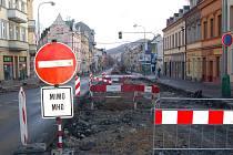 Sokolovská ulice. Rekonstrukce.