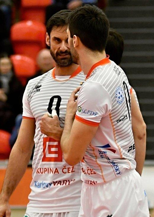 Ondřej Hudeček (číslo 9) se stal manažerem VK ČEZ Karlovarsko.