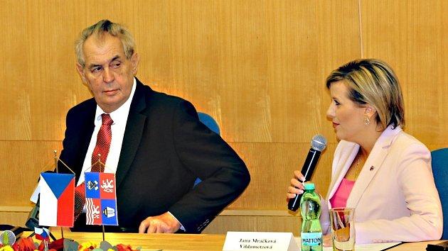 Miloš Zeman v Karlovarském kraji