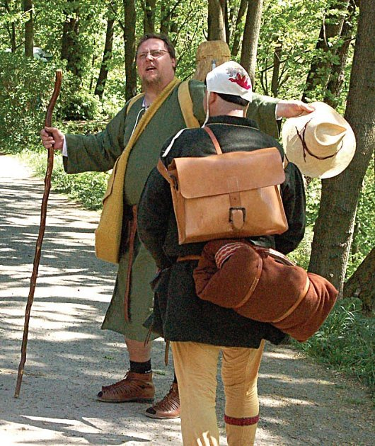 NA CESTĚ. Sbohem dal Hroch Hauenštejnu 30. dubna. Do soboty urazil přibližně 400 kilometrů.