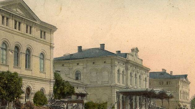 Horní nádraží v Karlových Varech, 1905.