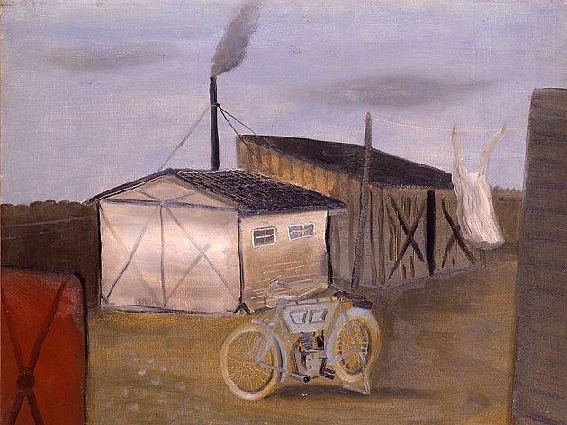 Lhotákovo Kolo, jeden z obrazů výstavy.