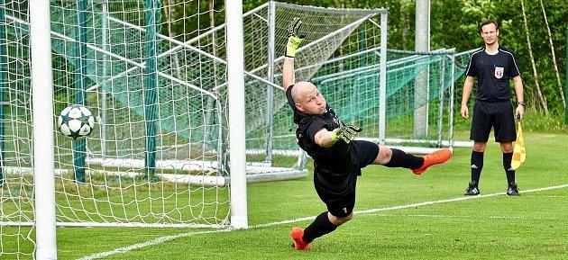 Ondřej Jacko-Lysák, brankář FC Viktoria Mariánské Lázně.