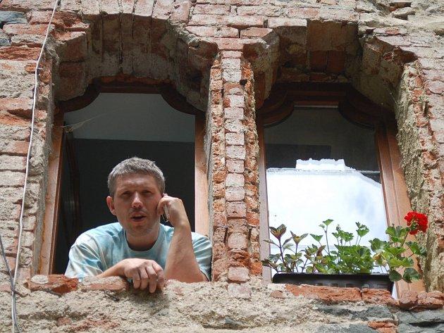 Pavel Palacký, Hradní pán na Hauenštejně, je s návštěvností spokojen.