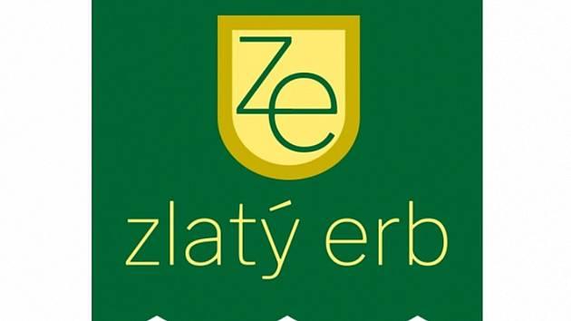 Zlatý erb logo.
