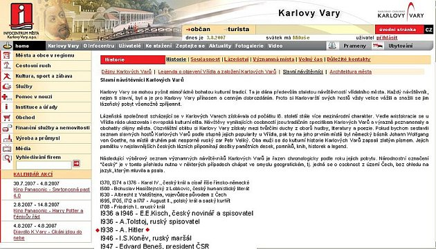 Hitler patří mezi slavné osobnosti, které navštívily Karlovy Vary.