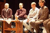 Lídři koalice K20. Zleva Jiří Kotek (ALTERNATIVA), Otmar Homolka (O co jim jde), Petr Kulhánek (KOA) a Michal Toufar (TOP 09).