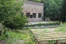 Letní kino v Karlových Varech, stav k 21. červenci 2009.
