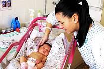V KARLOVARSKÉ PORODNICE se letos v lednu narodila mamince Darině Dusíkové z Kynšperka nad Ohří malá Anet.
