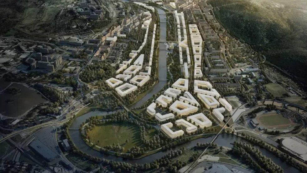 Vizualizace celé lokality od Kanceláře architektury města.
