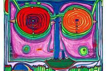 Friedensreich Hundertwasser: Brýle na malém obličeji.