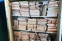 Cenné dokumenty nalezené v opuštěném areálu Škody Ostrov.