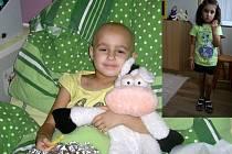 Danielka před nemocí a při léčení v nemocnici.