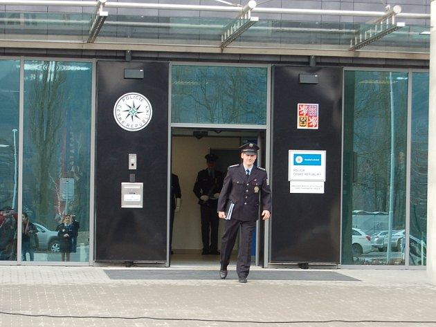 Nová budova policie v Karlových Varech.