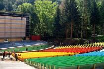 Letní kino v Karlových Varech.