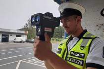 Policisté v Karlovarském kraji kontrolovali dodržování rychlosti při akci s názvem Speed Marathon.