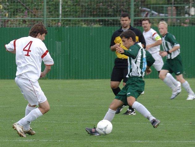 Fotbalový zápas Sedlece s Dalovicemi.