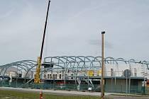 Nová odbavovací hala karlovarského letiště.