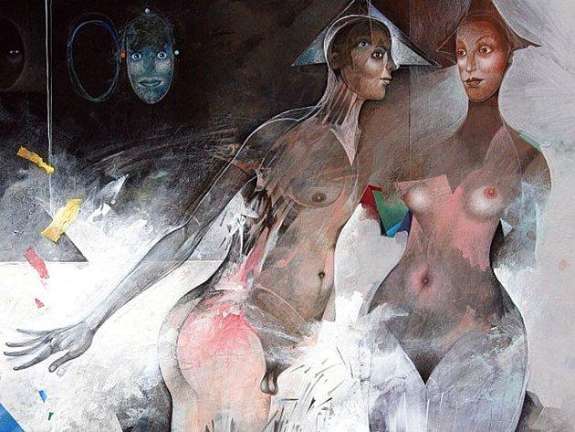 Groteskní hravost. Díla výtvarníka Jiřího Brázdy nabízejí spoustu pohledů na umění.
