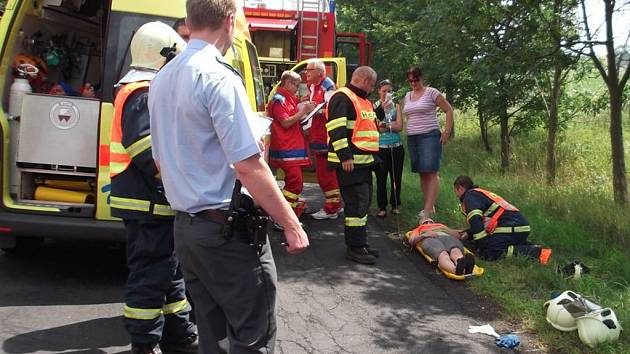 Autonehoda u Moříčova.