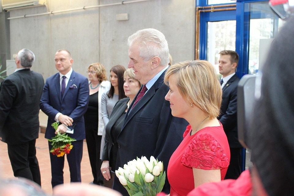 Prezident republiky Miloš Zeman na návštěvě Karlovarského kraje.