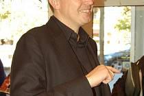 Roman Šmucler po tiskové konferenci v karlovarském hotelu Dvořák