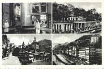 Karlovy Vary na starých pohlednicích.