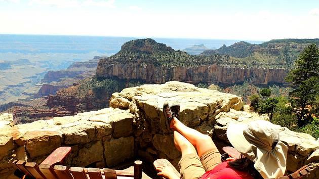USA - odpočinkový pohled na Grand Canyon