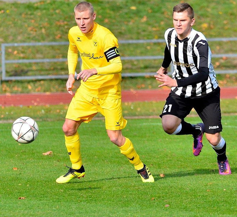 Michal Drahorád mladší jako jediný z fotbalového klanu rozdává fotbalovou radost i v současnosti za Viktorii Mariánské Lázně.
