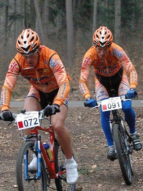 Nejúspěšnější karlovarský jezdec v Českém poháru cross country horských kol Filip Eberl v dresu kolínské stáje Scott Scania.