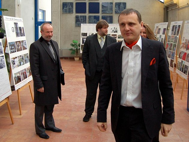 Ministr dopravy Vít Bárta při návštěvě Karlových Varů