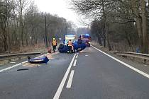 Nehoda osobního auta u Damic
