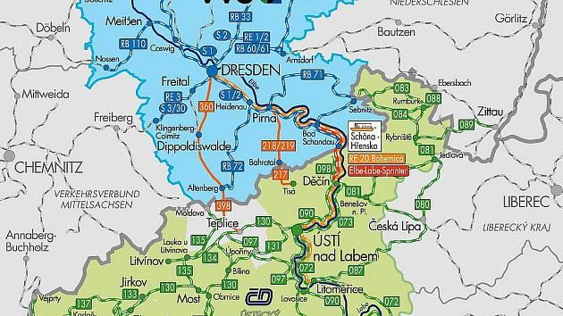 Přeshraniční dopravní systém Elbe-Labe-Ticket spojuje Sasko a Ústecký kraj, nyní se připojuje i Karlovarsko.