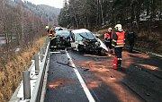 Nehoda u březovské přehrady