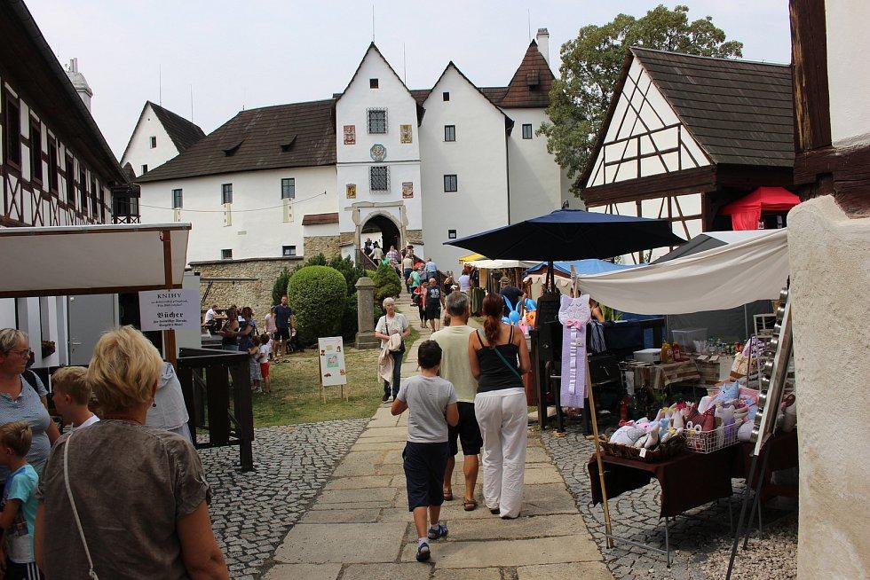 Na hradu Seebergu byl připravený zajímavý program se spoustou stánků, ukázkami řemesel a nechybělo ani vojenské ležení.