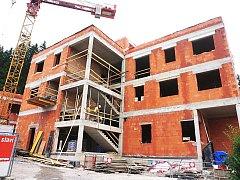Stavba nového hospice v Nejdku.