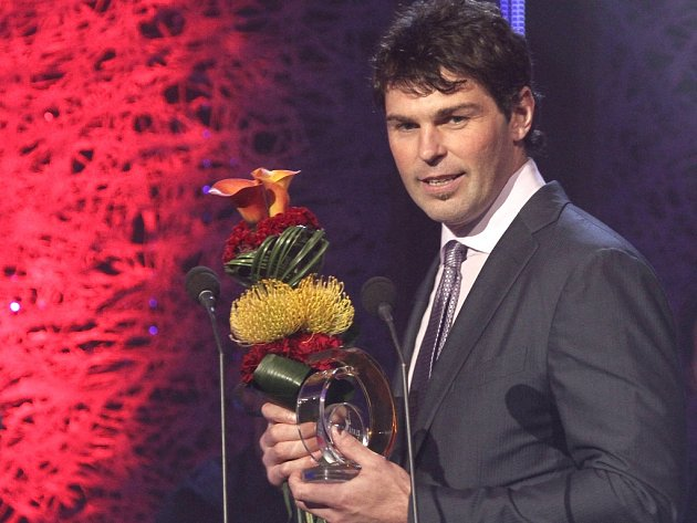 Zlatá hokejka. Druhý v pořadí skončil Jaromír Jágr.