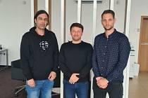 Martin Kratochvíl, trenér FB Hurrican Karlovy Vary (vlevo).