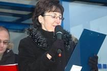 """""""ZAVŘEME ORDINACE!"""" Praktická lékařka Jaroslava Švandrlíková už na demonstraci pohrozila uzavřením ordinací."""