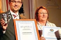 Radost z úspěchu. Eduard Bláha, generální ředitel Léčebných lázní Jáchymov, neskrýval radost z ocenění. Jáchymovské lázně se staly Lázeňskou společností pro rok 2008.