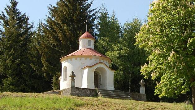 Kaplička sv. Jana Nepomuckého u Žlutic.